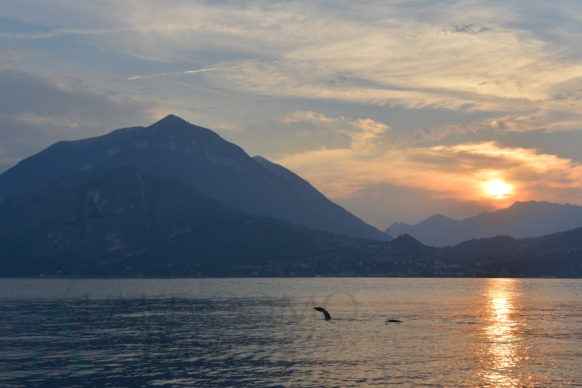 da Varenna al tramonto