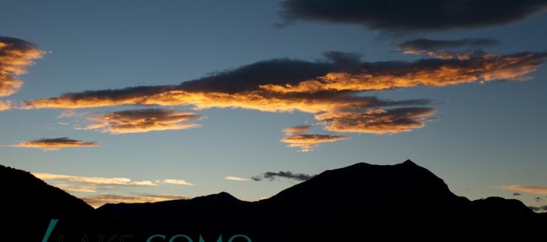 lo sky line del monte Crocione visto da Lierna